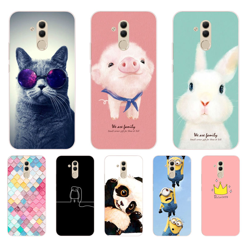 huawei mate 20 lite Case,Silicon Painted animals Painting Soft TPU Back Cover for huawei mate 20 lite Protect Phone cases shell