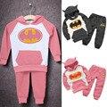 2pcs/Set Autumn Winter Toddler Kids Baby Boys Girls Batman Pattern Pullover Children Clothes Outfits Hoodies Tops+Pants Set 21