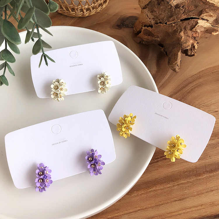 new design fashion jewelry hot elegant flower earrings South Korea beach resort earrings floret combination earring for women