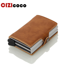 Men Credit Card Holders American European Style Wallet High Quality Occident Holder PU Leather Case
