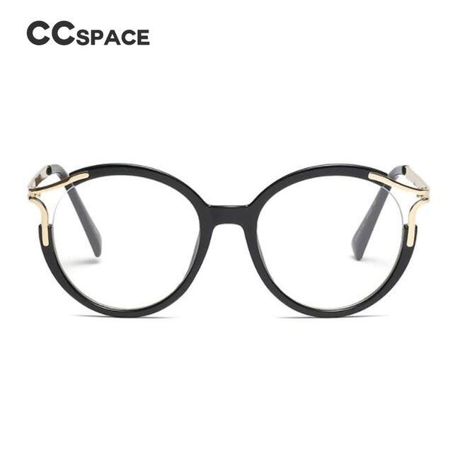 Tienda Online Ccspace señora metal hueco redondo Gafas marcos para ...