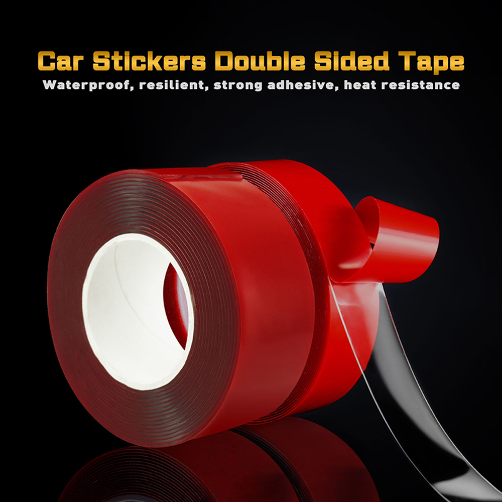 10mm Car Red Transparent Double Sided Tape For lada bmw Audi Bentley Buick <font><b>Chevrolet</b></font> Citroen ford Honda HYUNDAI Kia Lexus Mazda image