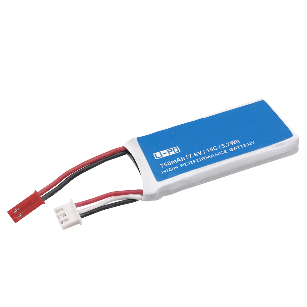 7.6V 750mAh 15C For Hubsan H216A X4 RC Quadcopter Spare Parts 7.6V 750mAh 15C Rechargeable Lipo Battery H216A-04