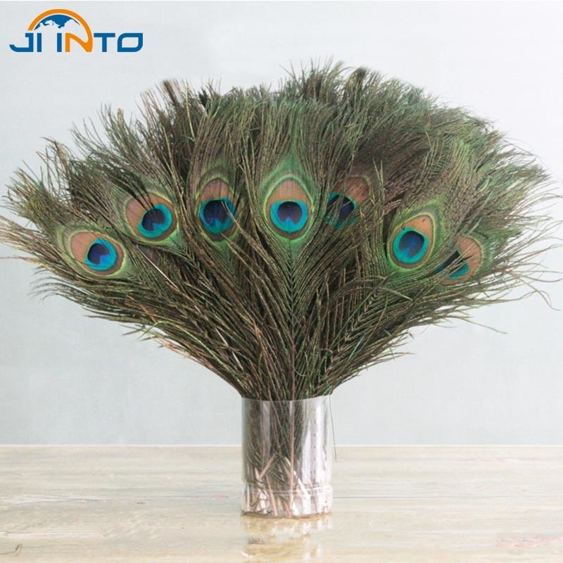 10PCS Natural Peacock Feather 25-30cm Clothing Decoration Plumage Fashion Crafts Beautiful Decorative