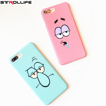 Cute Funny Cartoon Face Emoji Phone Cases For iPhone 6 Case Slim Frosted Hard Back Cover Coque For iphone 6S 7Plus 5s Fundas