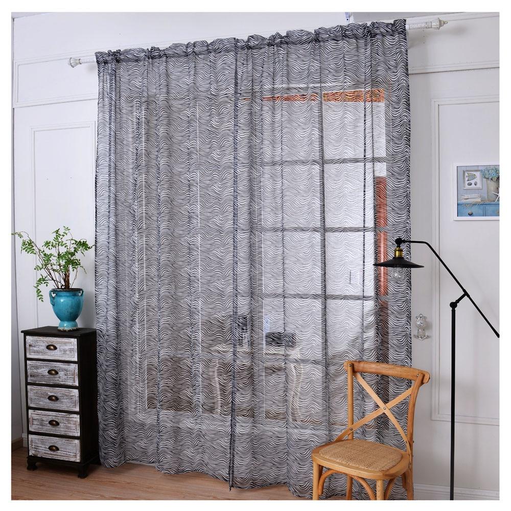 Zebra window curtains - Hot 2017 New Arrival 1 Pc Zebra Stripe Tulle Door Window Curtain Drape Panel Sheer Scarf