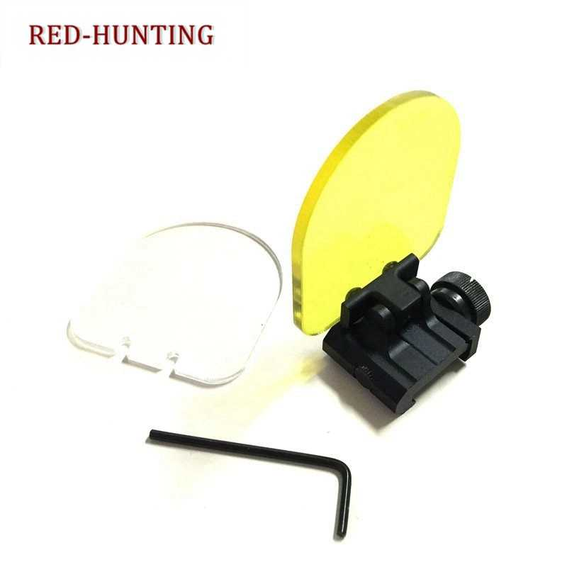 Outdoor hunting Red Dot Sight Scope 20mm QD Mount Airsoft Riflescope Transparante Kogelvrije Lensbescherming Vouwen