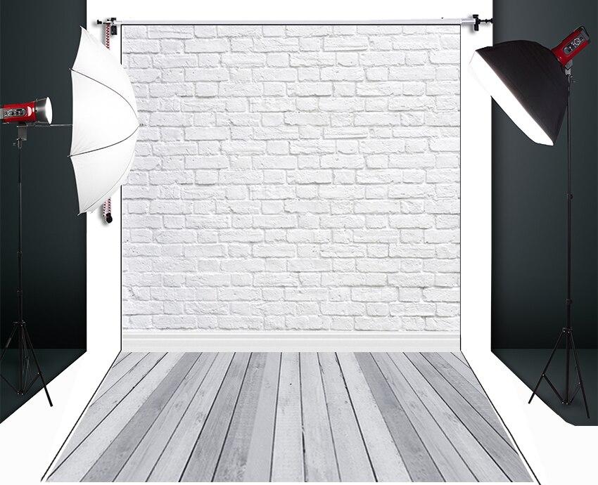 HUAYI White Brick Wall Photography Backdrop Scenery Custom Photo Portrait Studios Background D-9713