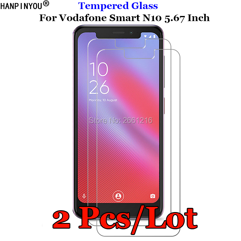 2 Pcs/Lot For Vodafone Smart N10 Tempered Glass 9H 2.5D Premium Screen Protector Film For Vodafone Smart N10 5.67