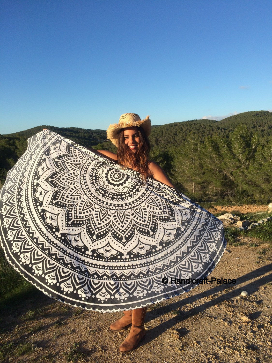 Beach Towel Shawl Winter Scarf Shawls And Scarves Poncho Feminino Inverno Round Towels Bathroom Foulard Mandala