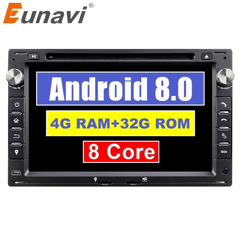 Eunavi Octa Core 4 GB di RAM 32 GB Flash Android 8.0 7 pollici, Lettore DVD GPS Per Il VW Glof bora Passat Mk5 Golf Mk4 Polo Jetta Sede