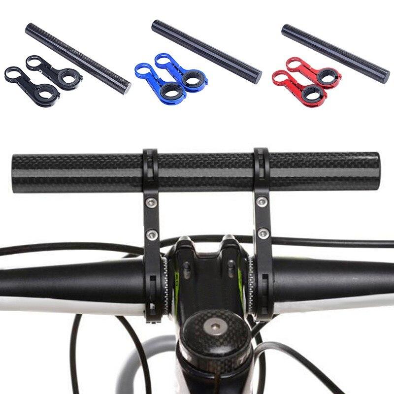 Ciclismo guiador bicicleta lanterna titular alça barra acessórios da bicicleta tubo de carbono suporte montagem extensor 20cm conta-gotas