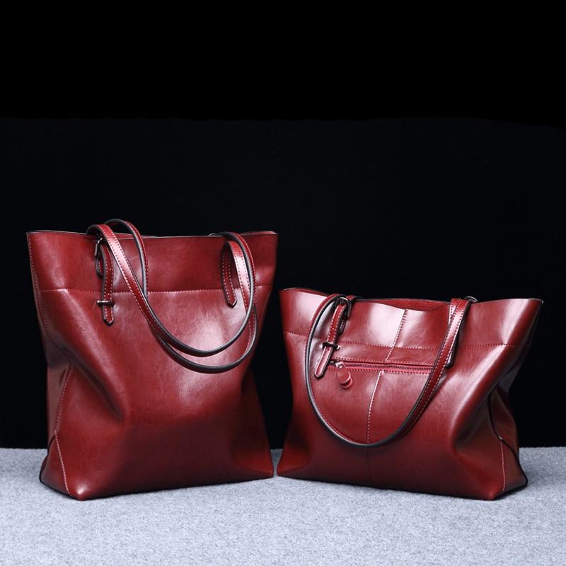 Mode frauen taschen damen Rindsleder handtasche kurze schulter taschen große kapazität luxus handtaschen tote taschen Marke design-in Schultertaschen aus Gepäck & Taschen bei  Gruppe 1