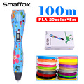 2018 SMAFFOX 3d PEN K3 with oled display screen 3D printing pen support PLA and PCL filament 1.75mm 3D drawing pen best gift