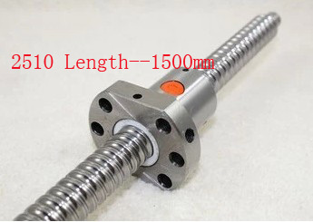 Vis Acme diamètre 25mm vis à billes SFU2510 pas 10mm longueur 1500mm avec écrou à billes CNC pièces d'imprimante 3D