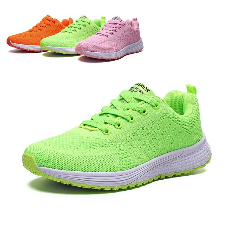 Sneakers Female Tenis Shoes Woman Feminino Running-Rhoes Fashion Mesh Weaving Shock-Absorbing