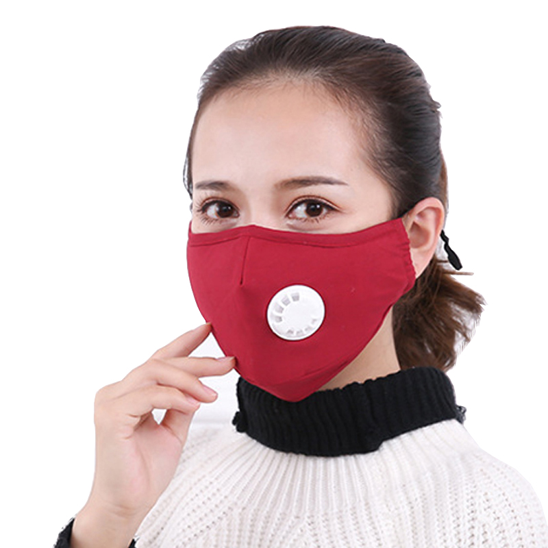 1Pcs Anti Pollution Mask Dust Respirator Washable Reusable Masks Cotton Unisex Mouth Muffle for Allergy/Asthma/Travel/ Cycling woodyknows super defense nasal filters 2nd generation nose masks pollen allergies dust allergy relief no pm2 5 air pollution