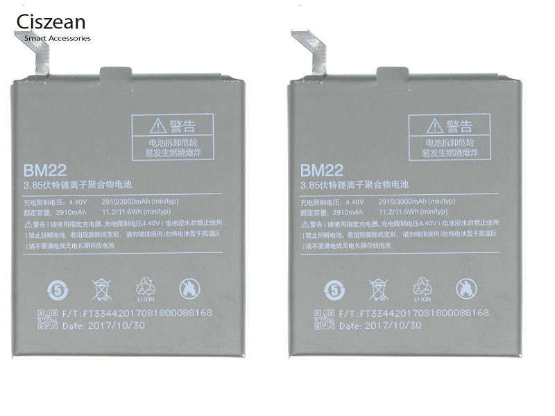 Ciszean Replacement-Battery Batteria Xiaomi Mi5 Bm22/bm For Mi5/5m/5-mi-5 3000mah/11.6wh