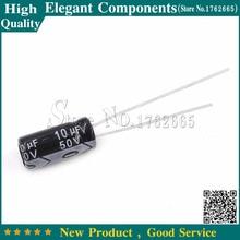 50 шт., алюминиевый электролитический конденсатор мкФ 50 в 50 мкФ 50 В/10 мкФ, размер 5*11 мм, электролитический конденсатор, бесплатная доставка