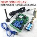 O envio gratuito de Nova Versão de Sete placa de saída de relé de controle remoto GSM Não incluindo a bateria recarregável