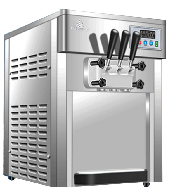 Commercial Table Top Three  Flavor Soft Ice Cream Machine 1
