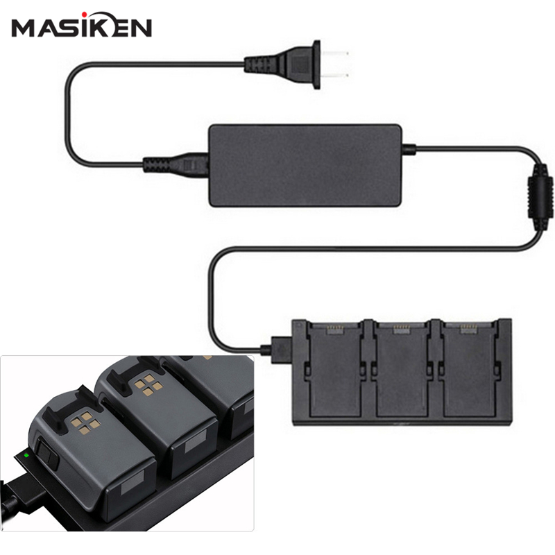 цена на MASiKEN 3 in 1 Battery Charger For DJI Spark Drone Battery Charging Parallel plate Hub Port Intelligent Flight Accessories