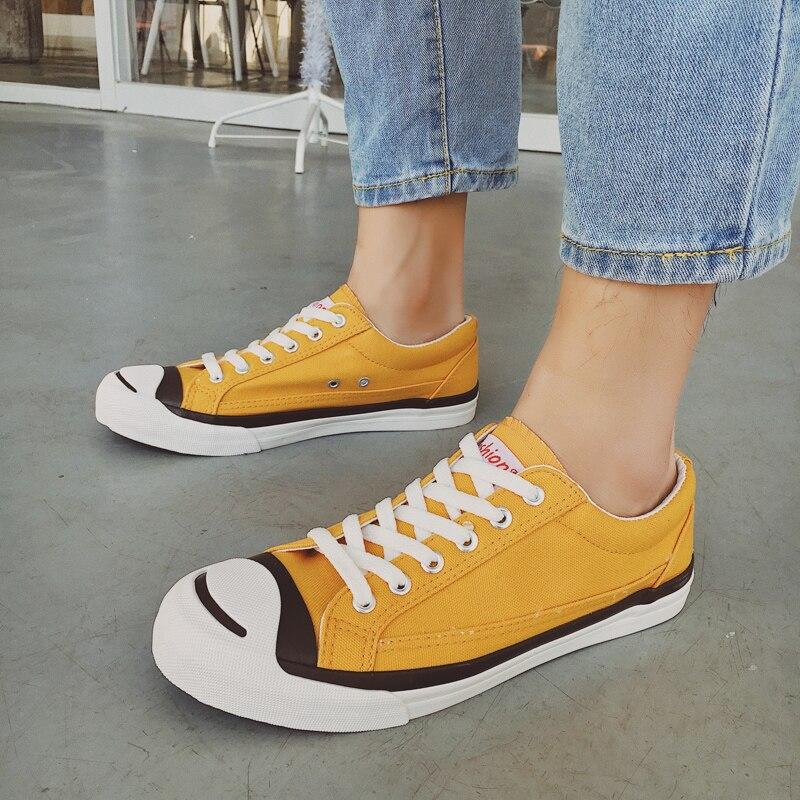 Harajuku Primavera 2018 Calzado Zapatos otoño Cómodo Ulzzang Black Hombre Baja Tendencia Juventud Nueva yellow Ayuda Joker Casual 3 Masculina Moda qEgIE