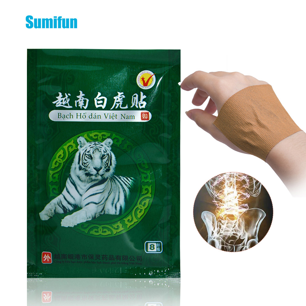 16Pcs Vietnam White Tiger Balm Medical Plaster Rheumatoid Arthritis Joint Pain Relief Back Body Muscle Patches Sticker D1474(China)