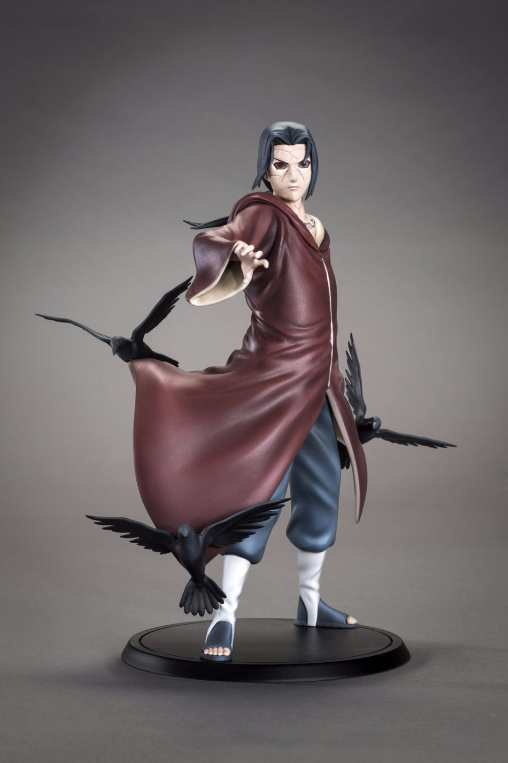J G Anime Naruto Uchiha Itachi 1/8 Scale Painted Figure Uchiha Itachi PVC Action Figure Collectible Model Toy 17cm Brinquedos dragon ball z broli 1 8 scale painted figure super saiyan 3 broli doll pvc action figure collectible model toy 17cm kt3195