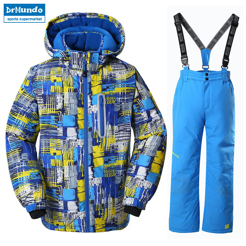 Boys Ski Jacket Children Waterproof Windproof Clothing Kids Ski Set Winter Warm Snowboard Outdoor Ski Suit Boys Ski Set detector boys ski jacket children waterproof windproof clothing kids ski set winter warm snowboard outdoor ski suit boys ski set