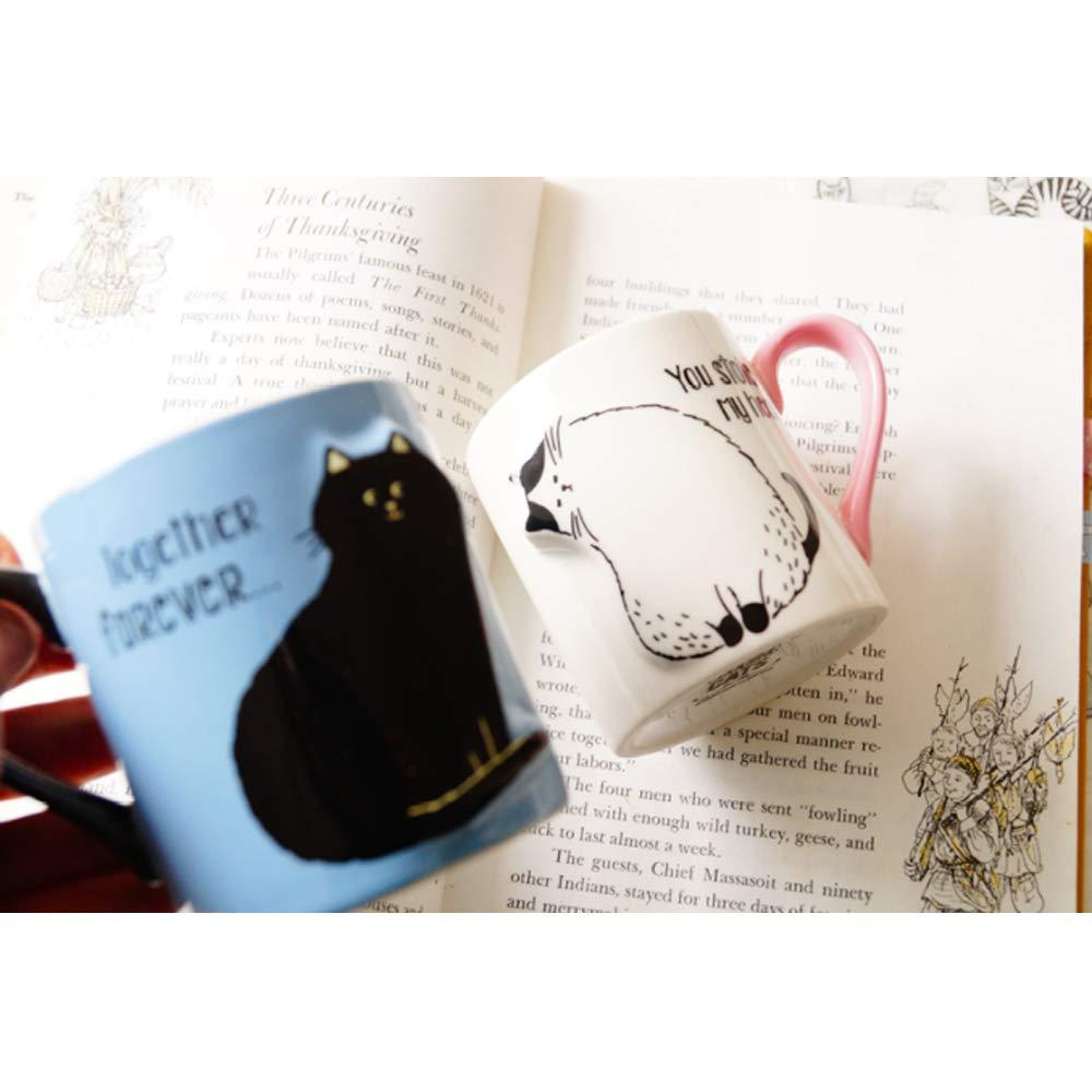 2 шт., лидер продаж, держатель для мобильного телефона, керамические кружки с животными, кофейная чашка для чая с молоком, милая кружка с котом, пара чашек для напитков для детей