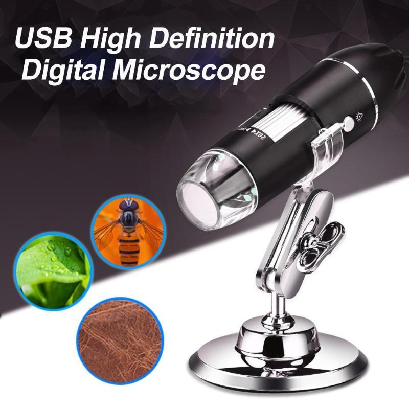 Aletler'ten Mikroskoplar'de 8LED 1600X HD elektronik el dijital Mikroskop endüstriyel tıbbi USB büyüteç Mikroskop para WIN XP/7 title=