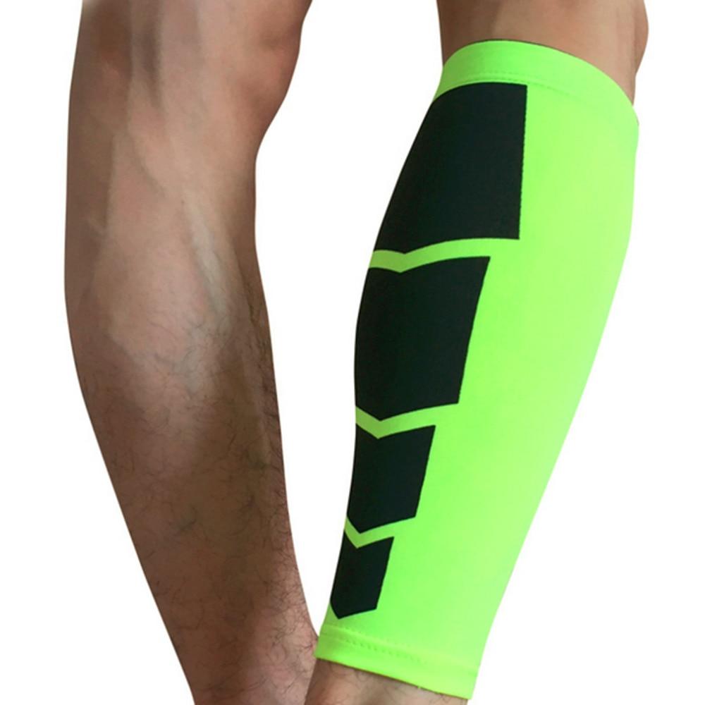 1pair fotbal golf basketbal sport jízdní kolo tele nohavice rovnátka podpora strečové rukávy kompresní cvičení legíny sada