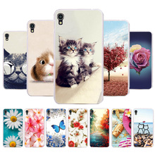 3D DIY Soft Silicone Case For Alcatel OneTouch Idol 3 Coque Idol3 6045 6039 Cover Painted Fundas