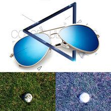 e69c89be339 Hommes Femmes Rétro lunettes de Soleil De Pêche Balle De Golf Finder  Lunettes Protection Des Yeux Accessoires De Golf Bleu Lenti.