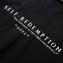 GONTHWID Self Redemption Patchwork Printed T-Shirt
