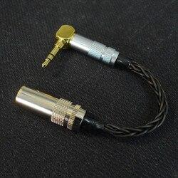Ręcznie robione zrównoważony 4.4mm do 3.5mm adapter 8 rdzeń 7N pojedynczego kryształu miedzi 4.4 kobiet do 3.5 męski kabel do HIfi MP3 odtwarzacz muzyczny