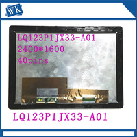 Free Shipping 12.3''inch Lcd Assembly for HP Lcd Screen LQ123P1JX33 A01 LQ123P1JX33 A01 with Touch Digitizer matrix