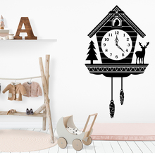 Lovely Alarm Clock Removable Art Vinyl Wall Stickers For Kids Room Decoration Nordic Style Home