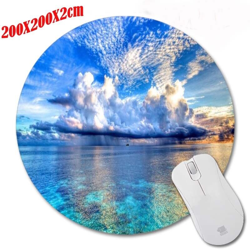 Kleine Insel Turm Augen Runde 200*200*2mm Mouse Pad Mousepad Computer PC Laptop...