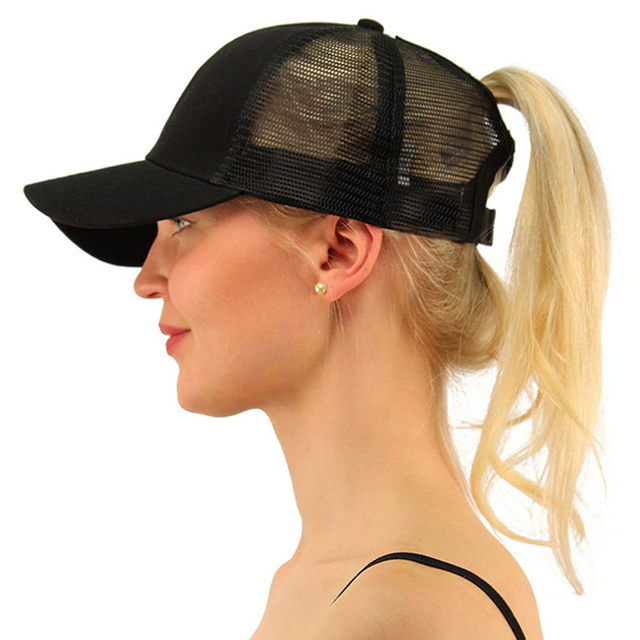 1a64f3202 US $3.89 |2018 Ponytail Baseball Cap Women Messy Bun Baseball Hat Snapback  Ponytail Sports Hat Summer Mesh Hats Drop Shipping-in Baseball Caps from ...