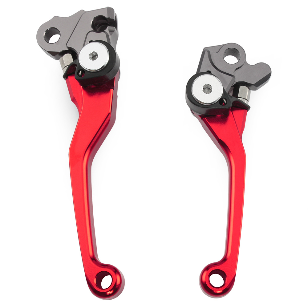 Red CNC Pivot Brake Clutch Levers for Honda CRF 250R 450R CRF250R CRF450R 2004-2006 CRF 250X 450X CRF250X CRF450X 2005-2016 for honda crf 250r 450r crf250r crf450r 2007 2016 dirt bike off roads motocross racing cnc pivot brake clutch levers r