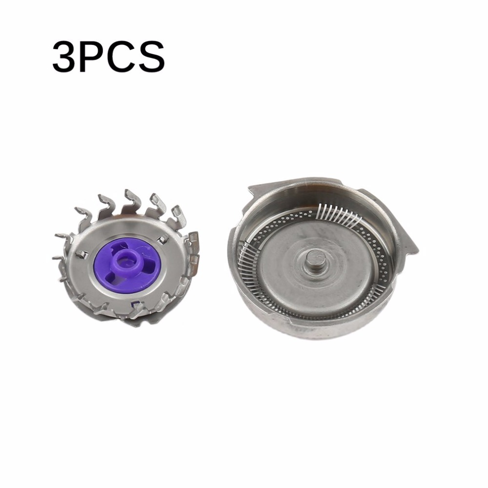 3 pcs/lot Professional <font><b>Replacement</b></font> <font><b>Shaver</b></font> <font><b>Head</b></font> Blades Cutters <font><b>Suitable</b></font> <font><b>for</b></font> <font><b>Philips</b></font> Norelco Electric Razor HQ8 Silver