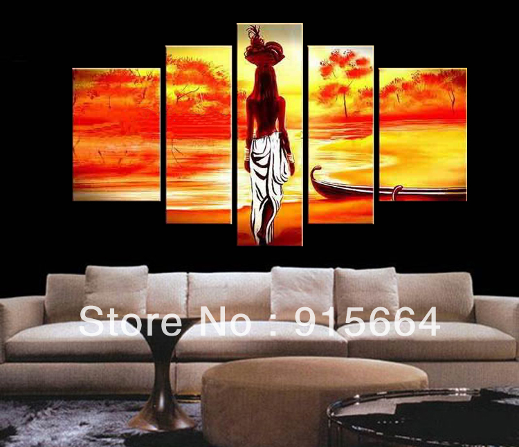 3Panels Modern Abstract Painting Canvas Print Combination Art Picture PT640S