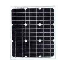 Portable Solar Panels For Camping 12V 40W Monocrystalline Solar Charger For Car Battery 12v Solar Modules RV Solar Light