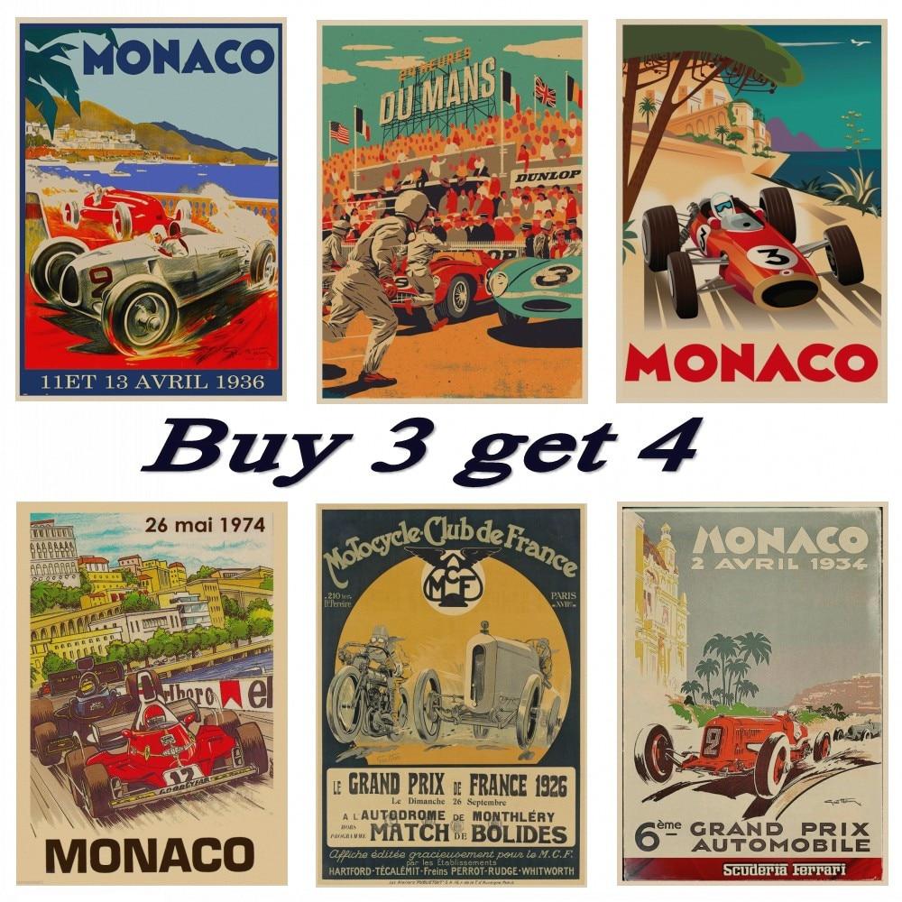 A2 Print 1977 Monaco Grand Prix Poster A3