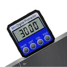 Прецизионный синий цифровой угломер Инклинометр водонепроницаемый уровень коробка Цифровой Угол искатель коническая коробка с магнитной основой 360 градусов
