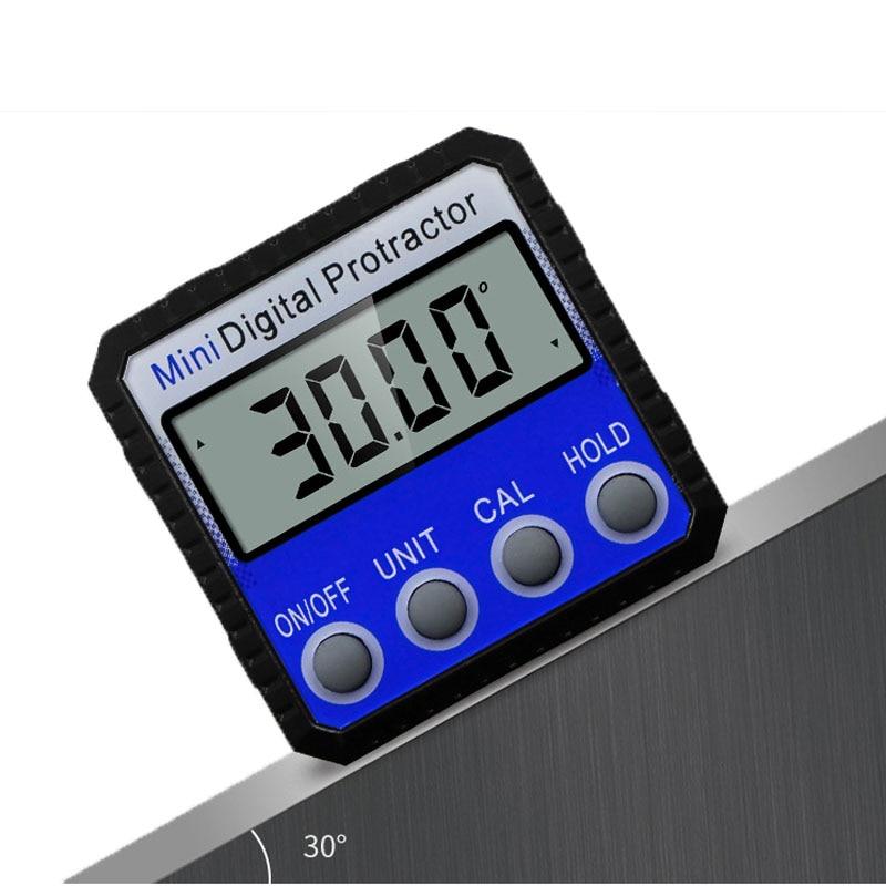 Präzision Blau Digital Winkelmesser Neigungs Wasserdicht Stufe Box Digitale Winkel Finder Bevel Box Mit Magnet Basis 360 grad