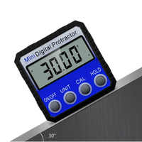 Precision Blue Digital Protractor Inclinometer Water Proof Level Box Digital Angle Finder Bevel Box With Magnet Base 360 degree