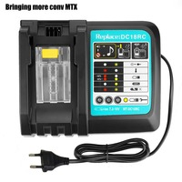 Li-ion carregador de bateria ferramenta elétrica de substituição carregador de bateria para makita 7.2 v-18 v bl1830 bl1430 dc18ra dc18rc plugue da ue + porta usb